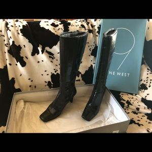 9 West Illusion heel boots